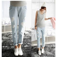 2015 Maternity clothing spring and summer Maternity Pants Pregnant women jeans casual pants for pregnant women for pregnancy