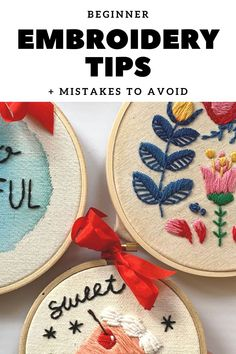 Basic Hand Embroidery Stitches, Hand Embroidery Tutorial, Learn Embroidery, Embroidery For Beginners, Hand Embroidery Patterns, Sewing Projects For Beginners, Cross Stitch Embroidery, Hippie Crafts, Learning To Embroider