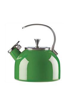 tea kettle by kate spade new york Cast Iron Cookware, Kitchen Collection, Kitchen Knives, Kitchen Goods, Kitchen Organization, Colorful Decor, Kitchenware, Cool Kitchens, Kitchen Design