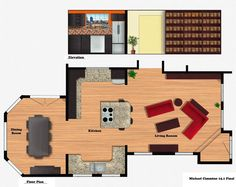 Custom Floor Plan rendered out in photoshop