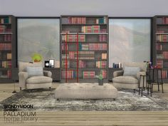 - Palladium Home Library  Found in TSR Category 'Sims 4 Living Room Sets'