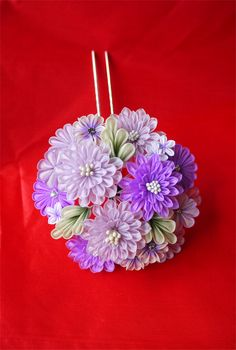 Original tsumami kanzashi from Japan