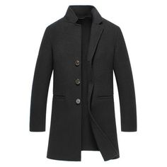 Blue Fish Cashmere Trench - Black