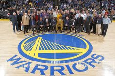 The 1974-1975 NBA Champions Alvin Attles, Rick Barry, Bill Bridges, Charles Dudley, George Johnson, Clifford Ray, Joe Roberts, and Jamaal Wilkies and the 88 Warriors Season Ticket Holders (who have been Warrior's Season Ticket Holders since 1974-75 season or before) on February 25, 2011 at Oracle Arena in Oakland, California.