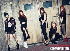 4Minute in Cosmopolitan March Issue