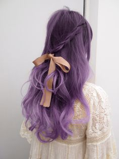 adorable purple hair
