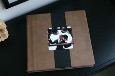 """Amazing wedding album by Finao Albums www.finao.com """"Dulce de Leche"""" and """"Suspicion"""" leather.  # wedding album senior portrait boudoir baby book photography photographer brown black ostrich"""