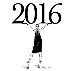 """2016 is here! Wishing everyone the best year yet! - Megan Hess"
