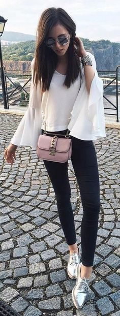 Black And White + Pop Of Pink and Silver Source