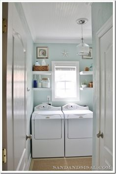Small laundry space ideas
