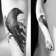 Raven tattoo, done yesterday