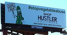 Ummm i am going to ask...you think a 12 year old got the message.  I mean i am no prude but....REALLY?!  #VEGETABLES #SEX #INAPPROPRIATE #WTF #TOOMUCH #HUSTLER #HOLLYWOOD