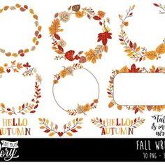 Fall Clipart Autumn Clipart Fall Harvest Clipart Pumpkins | Etsy