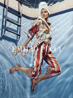 An image from Emilio Pucci's spring 2018 advertising campaign