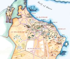Blog Illustrated Maps Tourist Map Sultanate Of Oman Illustrated Map
