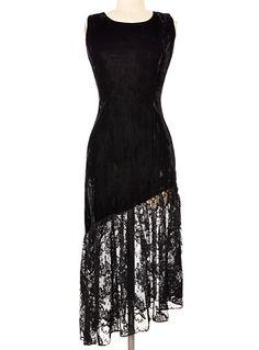 Vintage Black Magic Velvet Dress $82.99 at PLASTICLAND