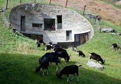 Underground home Villa Vals in Switzerland.