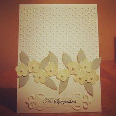 Handmade card, sympathies card