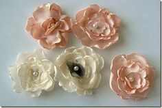Fabric Bows and More: Satin Flower Tutorial by Sew Ashley