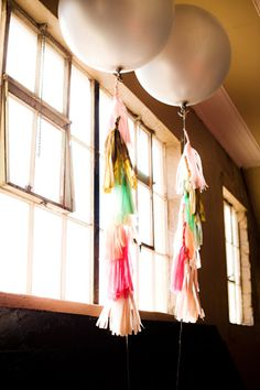 giant balloons with diy tassels