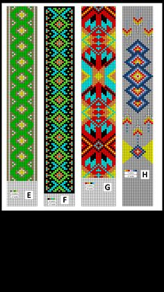 Bead patterns made by Collier's Tack & Supply.