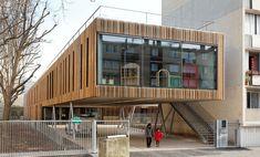 Nanterre, France  Primary school and Kindergarden Lucie Aubrac  Dietmar Feichtinger Architectes