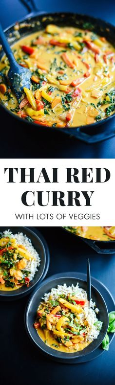 This Thai red curry recipe is so easy to make at home! It's much tastier than takeout and healthier, too. This recipe is vegetarian, vegan and gluten free!