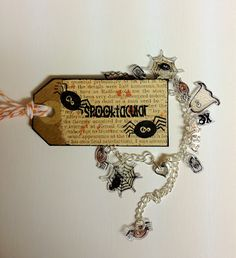 Spooktacular Charm Bracelet with My Thoughts Exactly Stamps