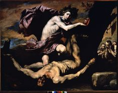 """The Dulwich Picture Gallery will be hosting an exhibition of works by Spanish Baroque artist Jusepe de Ribera titled """"Ribera: Art of Violence. Caravaggio, Dulwich Picture Gallery, Mythology Paintings, Baroque Art, Peter Paul Rubens, Classic Paintings, Greek Mythology, Roman Mythology, National Museum"""