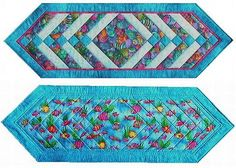 I like to make my holiday runners and placemats reversible to a general purpose fabric design so I can get use out of them more than just a few days a year.  This one has an Easter egg print on one side and a tropical fish design on the other.
