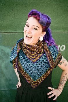 Distinction by Caitlin ffrench. malabrigo Mecha. Green Gray, Mostaza and Paysandu colorway.