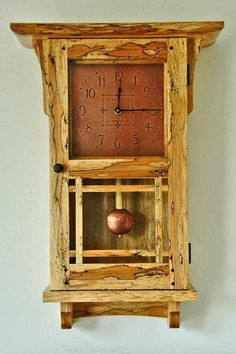 Spalted Maple Clock