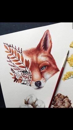 18 Ideas Family Tree Watercolor Art Projects For 2019 Watercolor Art, Animal Art, Sketches, Animal Drawings, Drawings, Art Projects, Art Drawings Sketches, Art, Fox Art