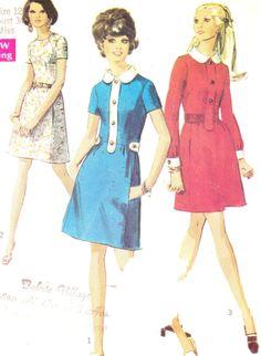 Vintagekjole - Simplicity 8496