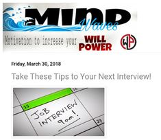 Tips to take to your next interview! http://mindwaves.williampowersstaffing.net  #officemate #dayjob #work #officelife #life #bored #atwork #workinglate #instawork #workhardplayhard #instadaily #grind #job #instajob #jobs #company #ilovemyjob #dailygrind #working #workinprogress #office #myjob #prilaga #mygrind #workingout #workhard #jobb #workout #computer