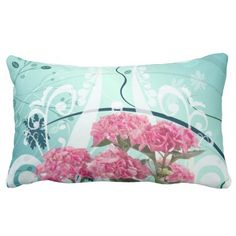 Discount Deals Pink Hydrangea Flowers Vintage Pattern Throw Pillows in each seller