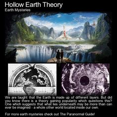 Hollow Earth Theory. A theory http://www.theparanormalguide.com/blog/hollow-earth-theory