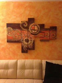 Abstract #orange #design #art #home #handmade #paint #modern