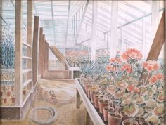 Eric Ravilious, Geraniums and Carnations, 1938