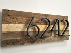 House Numbers Sign - custom, rustic, modern, wood, metal, floating numbers, new house, address sign, wooden wall sign, address plaque, gift by MadeWithBeerInHand on Etsy https://www.etsy.com/listing/590944666/house-numbers-sign-custom-rustic-modern
