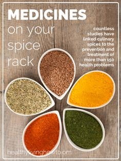 Medicines On Your Spice Rack  The most common herbs and spices, often added to our favorite dishes for flavor, also have considerable medicinal use. It is likely, these spices and herbs were originally added to foods for this v...