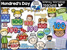 100's Day Clip Art