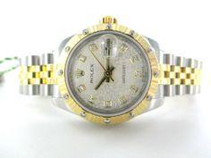 LADIES ROLEX DATEJUST GOLD & STAINLESS STEEL JUBILEE DIAMOND WATCH 179313 + BOX #ROLEX #LuxuryDressStyles