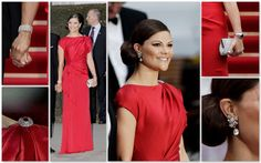 Lily Lemontree: Look of the Day: Crown Princess Victoria of Sweden in Escada-at the pre-wedding dinner for the wedding of Prince William and Catherine Middleton-April 28, 2011