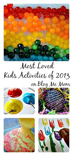 Most loved activities( sensory and art ) for kids on Blog Me Mom