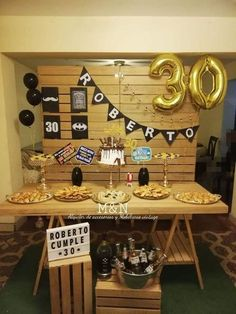 Hubby Birthday, Adult Birthday Party, 30th Birthday Parties, Birthday Decorations For Men, 30th Birthday Ideas For Men Surprise, 30th Party, Man Party, Papi, 60s Party
