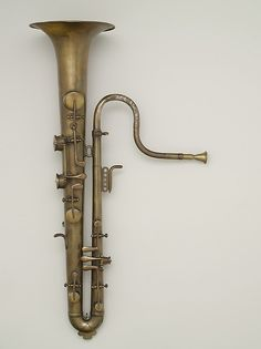 Soprano ophicleide made by Adolphe Sax, mid-19th century, Paris, at The Metropolitan Museum of Art