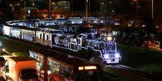 Tren de la Sabana (Bogotá) con espíritu decembrino