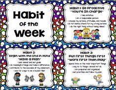 7 Habits of Happy Kids Colorful Posters FREE