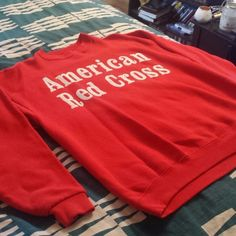 Vintage American Red Cross Sweatshirt Vintage American Red Cross Sweatshirt. Size large. Wear it slouchy over leggings. Super comfy. Purchased from a local thrift store. Good vintage condition. No defects. Pilling on the inside is to be expected from washing. Vintage Sweaters